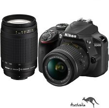 3YR AU WTY☆FREE POSTAGE☆Nikon D3400 with 18-55mm & 70-300mm Twin Lens Camera Kit