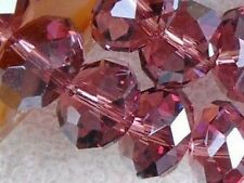 Stylish loose Crystal Beads DIY necklace earrings bracelet 70pcs 8MM Wine Red