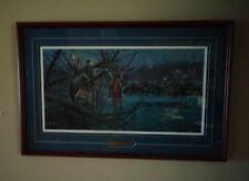 "Framed Civil War ""Night Crossing"" 1862 Limited Print Mort Kunstler Potomac River"