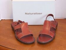 Naturalizer Kane Cinnamon Spice Leather Sandals  8 M