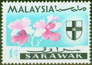 Sarawak 1965 1c Vanda Hookeriana SG212c Grey Omitted V.F MNH