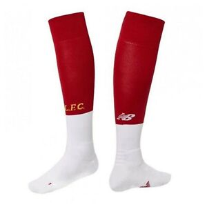 Boys Liverpool FC Home Socks Pair New Balance Junior Size UK 9-12 Small Boys