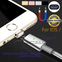 ACALI 1M Magnetic LED Data Charger Charging Cable For iPhone 6 6s 7 Type-C USB-C