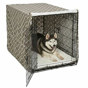 """Midwest QuietTime Defender Covella Dog Crate Cover Brown 30"""" x 19"""" x 21"""""""