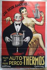 AFFICHE ANCIENNE JOSEPHINE BAKER AUTO THERMOS PAUL MOHR 1946