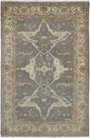 "Hand-knotted Carpet 5'10"" x 8'11"" Royal Ushak Traditional Wool Rug"