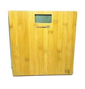 "Digital Bathroom Scale With Bamboo Platform 11.5"""