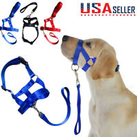 USA Dog Pet Head Collar Gentle Halter Leash Leader No Pull Harness Training Dogs