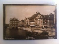 Foto Suisse Zurigo Rathaus Wharf 1897 Photoglob Co