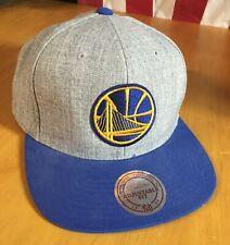 Mitchell & Ness GOLDEN STATE WARRIORS Gray heather blue NBA Snapback HAT Cap