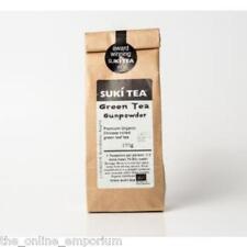 100g SUKI GUNPOWDER GREEN LOOSE LEAF TEA - 100% ORGANIC ROLLED GREEN TEA
