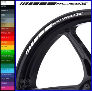 8 x Honda NC750X Wheel Rim Decals Stickers - 20 colours available - dct