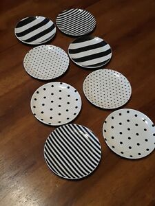 Kate Spade Set Of 8 Round Black And White Trinket Dishes