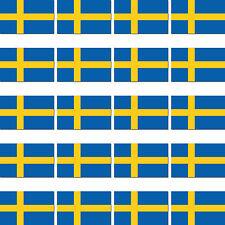 20 Stück Schweden Skandinavien Länder Fahne Flagge Modellbau Sticker Aufkleber