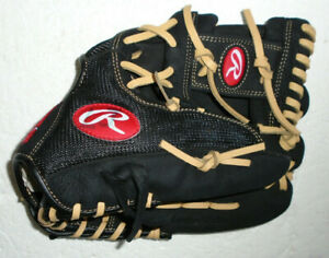 """Rawlings Renegade R115BBR Regular Black Leather Right Hand Throw Glove 11.5"""""""