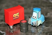 """DISNEY PIXAR CARS 2 """"PIT CREW GUIDO W/TOOL BOX AND TIRES""""  LOOSE, VERY SMALL"""