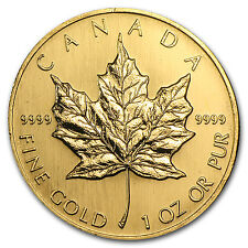 1998 Canada 1 oz Gold Maple Leaf BU - SKU #74659