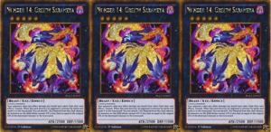 YUGIOH 3x Number 14: Greedy Sarameya PGL2-EN017 Gold Rare 1st Edition