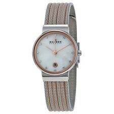Skagen Ancher Classic Two Tone Ladies Watch 355SSRS