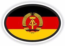 DDR Flag oval STICKER bumper decal car helmet laptop