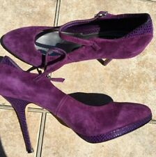 Women Shoes White House Black Market Size 8.5 M Purple Platform Stiletto Ankle