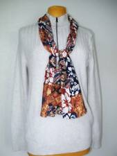 NEW Womens INC Sweater Large Has Top Zipper Mock Turtleneck With FREE Scarf