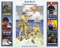 Grenada Military Stamps 2017 MNH WWII WW2 75th Anniv World War II Posters 6v M/S