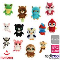 Aurora YOOHOO AND FRIENDS 8 INCH PLUSH Cuddly Soft Toys Childrens Teddy Kids New