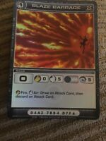 1x Chaotic Card SUPER RARE HOLO FOIL Blaze Barrage UNUSED CODE