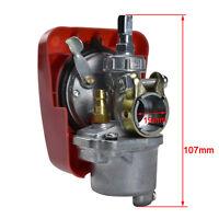 80cc Motorized Engine RED Carburetor Carby for 2 Stroke 49/ 66/70cc Push Bike US