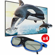 4x Active Shutter 3D Glasses for BenQ/Acer DLP-Link 3D Projector Rechargeable US