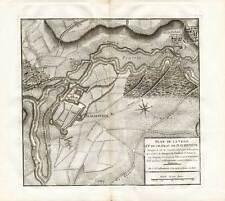 Antique Map-DACHSTEIN-CASTLE-BATTLE 1675-FRANCE-Beaurain-1782