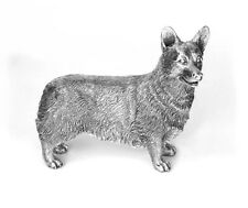 More details for hallmarked sterling silver corgi model
