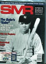 DECEMBER 2007 BABE RUTH COVER SMR PSA SPORTS MARKET REPORT PRICE GUIDE  MINT