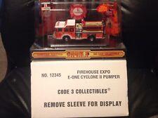 Code 3 Firehouse Expo E-One Cyclone II Pumper Truck 12345