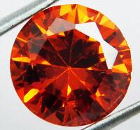 10.60 Ct Natural Untreated Red Brazil Zircon Round Cut Loose Gemstone D 4719