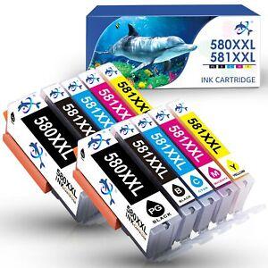 10 DRUCKER PATRONEN für Canon PGI580 CLI581 XL Pixma TS6250 TS6251 TS6300 TS6350