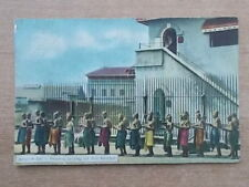 VINTAGE POSTCARD - PRISONERS IN RANGOON JAIL - BURMA - MYANMAR