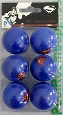 SUPERMAN Super Man Table Tennis Ping Pong Balls x 6 Pack Gift Set Man Cave