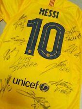 maglia messi barcellona camiseta  signed shirt autogramm barca