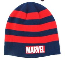 Marvel Blue/Red Boy's Men's Youth-Adult Beanie Hat Ages 14+ NWT