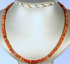 NATURAL SUNSTONE Gemstone Necklace Faceted Rondelle Necklace approx. 47cm Long