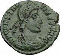 CONSTANTIUS II Constantine the Great son Ancient Roman Coin Horse man i34468