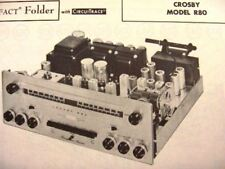 CROSBY R80 TUNER RECEIVER PHOTOFACTS PHOTOFACT
