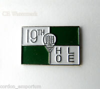 GOLF THE 19TH HOLE GOLFING NOVELTY LOGO GOLFER LAPEL PIN BADGE 1 INCH