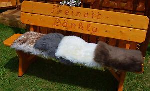 Sitzauflage Fellauflage Lammfell Tierplatz Schaffell Stuhlauflage Sitzpolster