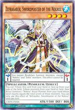 3x Zefrasaber, Swordmaster of the Nekroz - CROS-EN026 - Common - 1st Edition YuG