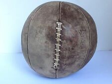 "Vintage  Leather Medicine Ball Boxing Training Large 40"" D & 9.2 lbs."