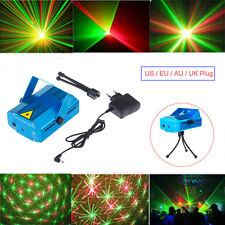 Mini Stage Laser Projector DJ Disco LED Light R&G Party Efffective Lighting Show
