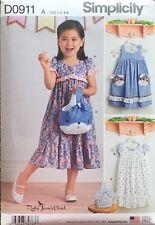 Simplicity 8565/D0911     Childs Dresses & Purses  Sizes: 3-8  Ruby Jeans Closet